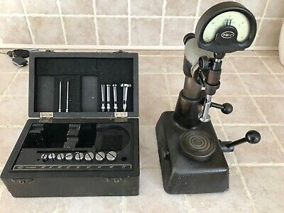 """Diatest Mahr with split Ball probes .00005"""" Dial with Flexbar Stand+box"""