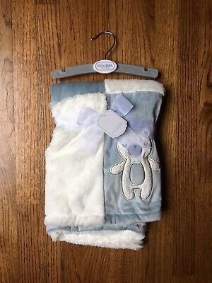 BRAND NEW Kyle And Deena New York Baby Blue Bear Soft Blanket 30 X 30 NWT