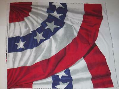"""Patriotic Old Glory Banner Red White Blue Cotton Quilt Fabric Panel 35"""" x 43"""""""