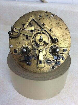 Antique French Mantel Clock Movement, Parts / Repairs