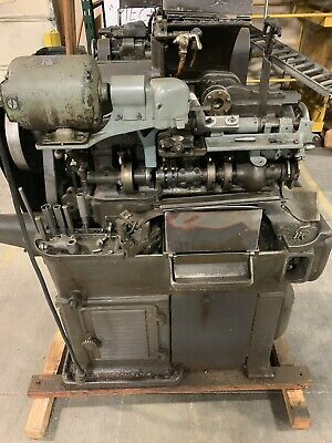 Brown & Sharpe Model OOG With Transfer Arm And Slotting Atach Auto Screw Machine
