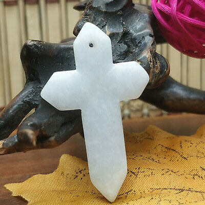 AAAAA Chinese Hand-carved aristocratic wearing Jadeite jade pendant(Jade Cross)