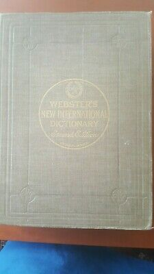 Websters 2nd dictionary 1950 vintage