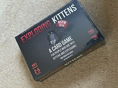 Exploding Kittens Card Game NSFW Edition Adult Party Game New & Sealed