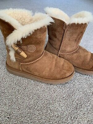 Girls Brown Ugg Boots Size 2