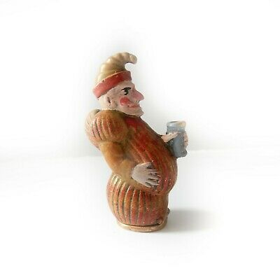 Hand Painted Novelty Punch & Judy Vesta Match Safe Snuff Box