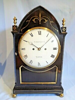 Fabulous London Regency Twin Fusee Bracket Clock C1820.
