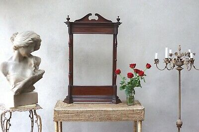 Large Antique Picture Frame Mahogany Victorian Free Standing