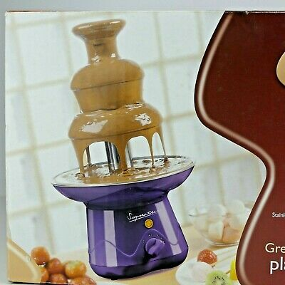 New Signature Chocolate Fountain FONDUE 3 TIER PARTIES STAINLESS STEEL