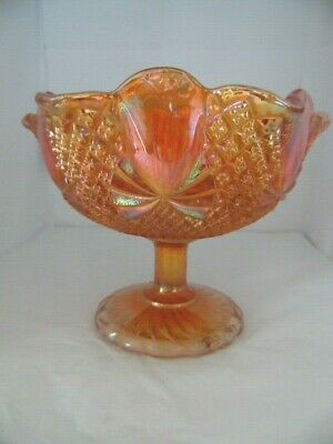 Carnival Glass Sowerby Marigold Bowl Peacock Mark