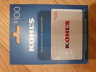 Kohl's gift card - $100.00 value **FREE SHIPPING**