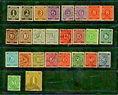 1946/1948 Germany - Allied Occupation Zone Short Set Mix Mint & Used - 26 Stamps