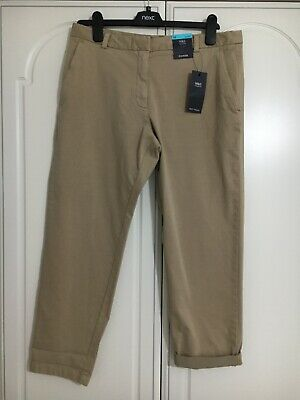 M&S Soft Touch Cotton Elastane Mix Pocket Chino Beige Trousers 14S BNWT RRP £25
