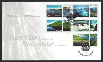 Canada    # 1855 abcde      FRESH WATERS OF CANADA    New 2000 Unaddressed