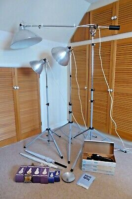 INTERFIT PHOTAX lighting system boxed VGC light stands reflectors interbrolly