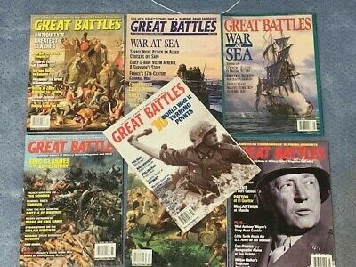 Lot of 7 GREAT BATTLES magazines War history