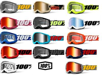 100% STRATA Goggles MTB Mountain Bike DH Enduro XC MX Motocross Goggle Percent %