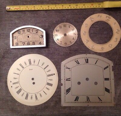 Antique Clock Dials Faces Bezels Ex Clockmakers Spare Part