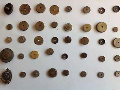 Antique Clock Alarm Mainsprings And Cases 60 Ex Clockmakers Parts Collection