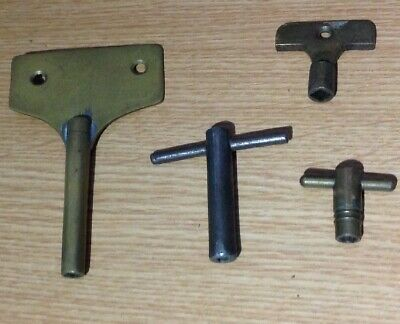 Antique Clock Winging Winder Keys 4, 3 Size 10 1x5 Ex Clockmakers Spare Parts