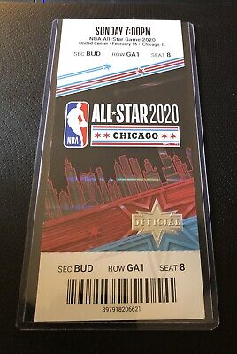 2020 NBA All-Star Game Full Ticket Stub Chicago 2/16/20 Exc Leonard MVP