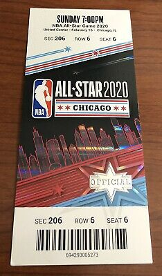 2020 NBA All-Star Game Full Ticket Stub Chicago 2/16/20 Mint