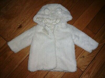 *George* Gorgeous Baby Girls Super Soft Fluffy Furry Ears Hooded Jacket Coat