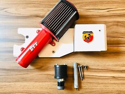 Abarth 500 GTT Cold Ram Induction System Air Filter Perfromance Red Black