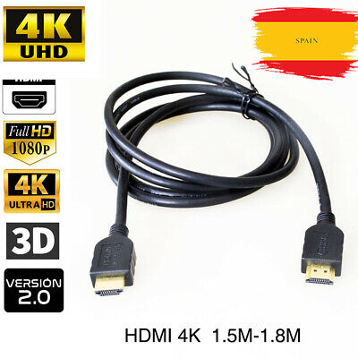 Cable HDMI 2.0 de  4K 2K PS4 PS3 Xbox 360 PC BluRay Conectores Full HD