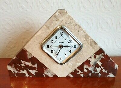 Superb 1930'S Art Deco Multi Coloured-Marble Mantel Clock.. French.