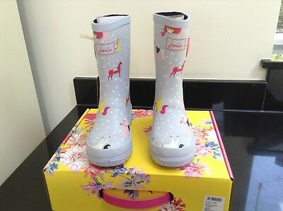 Joules Blue Horses Wellies. Boots. Size 11. New In Own Box