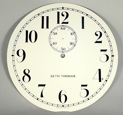 Seth Thomas # 2 Regulator Clock Dial, Arabic, New Style