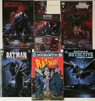 Lot 5 Batman Comics Dceased Grim Knight All Star Batman Who Laughs Detective COA