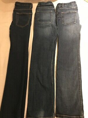 Boys GAP Kids Skinny Fit Jeans Size 13 Years 2 Pairs. One Pair Regular Fit.