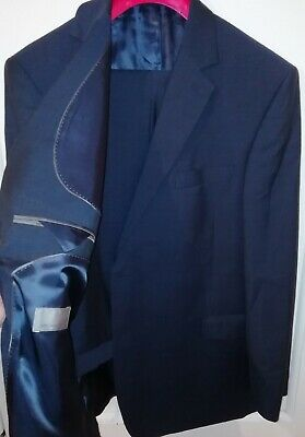 John Lewis Suit 48 Regular Wool With Mohair W42 L32 Trousers Beautiful Blue Suit