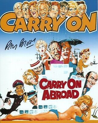 CARRY ON ABROAD comedy movie 8x10 photo signed by actor Ray Brooks
