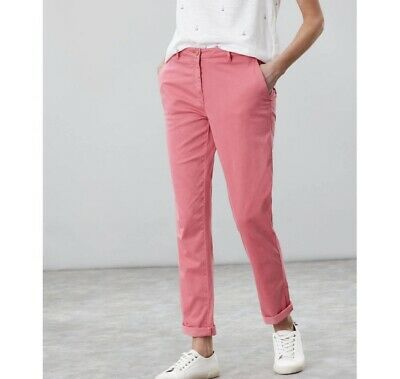 Joules Womens Hesford Chino size 18 in PINK Rosehip Bnwt RRP 49.95
