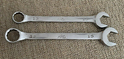 Mac Tools 2Pc Combination Wrench Set Metric 12Pt 13Mm & 15 Mm - Usa - Cw13,Cw15