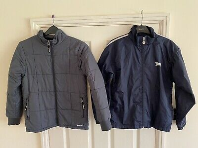 2 Boys Coats. BENCH Grey Padded Anorak Jacket LONSDALE Raincoat Navy. Age 11-12