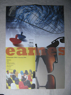 The Work of Charles & Ray Eames 1998 - 1999 Design Museum Poster A2 London VITRA