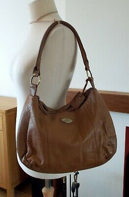 Rowallan large tan leather shoulder bag