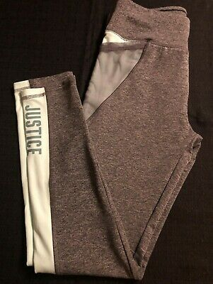 Girls Justice Active Leggings with Side Pockets Athletic Size 18/20 Full Length