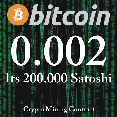 Bitcoin 0.00200000 BTC   MINING CONTRACT   Crypto Currency  