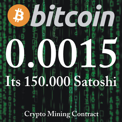 Bitcoin 0.00150000 BTC   MINING CONTRACT   Crypto Currency  