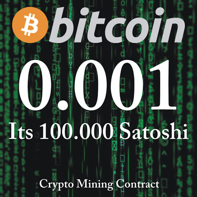Bitcoin 0.00100000 BTC   MINING CONTRACT   Crypto Currency  