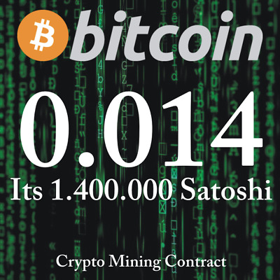 Bitcoin 0.01400000 BTC   MINING CONTRACT   Crypto Currency  