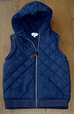 Witchery Boys Navy Hooded Puffer Vest Sz 10