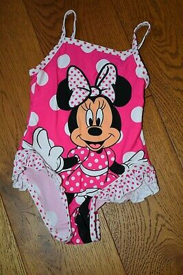 baby girls Disney pink Minnie Mouse swimming costume 12-18mths