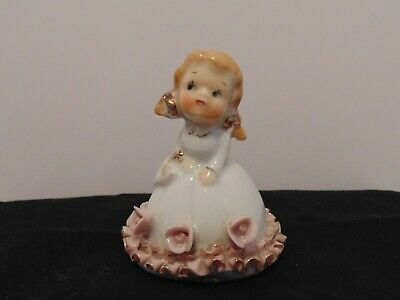 """Vintage Fibre Craft No 3019 8/"""" Blonde Young Girl Doll With Freckles /& Pigtails"""