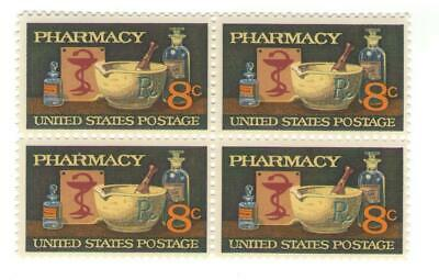 Pharmacists Pharmacy 45 Year Old Mint Vintage Stamp Block from 1972
